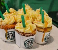 Starbucks caramel frappuccino cupcakes.