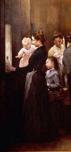 'Reparto de Leche' de Henry Jules Jean Geoffroy (1853-1924)