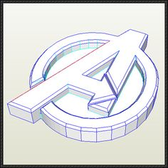 Avengers Insignia Free Papercraft Download - http://www.papercraftsquare.com/avengers-insignia-free-papercraft-download.html