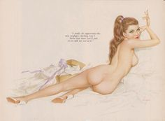 Rare Early 60's Vintage Vargas Pin Up Girl by TheEnchantedAttic, $10.00
