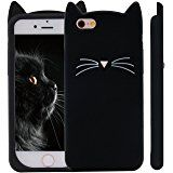 Amazon.com: iPhone 6S Plus Case, MC Fashion Cute 3D Black MEOW Party Cat Kitty Whiskers Soft Silicone Case for iPhone 6S Plus (2015) & iPhone 6 Plus (2014) (Cat-Black): Cell Phones & Accessories