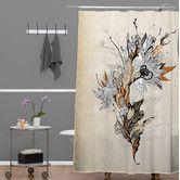 Found it at Wayfair - Iveta Abolina Polyester Floral 1 Shower Curtain Space Furniture, Bathroom Furniture, Modern Shower Curtains, Contemporary Shower, Curtain Patterns, Bath Linens, Queen Duvet, Duvet Sets, Runes