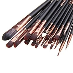 Unimeix 20 Pcs Pro Makeup Set Powder Foundation Eyeshadow Eyeliner Lip Cosmetic Brushes (Coffe) … >>> Details can be found by clicking on the image. (Note:Amazon affiliate link)