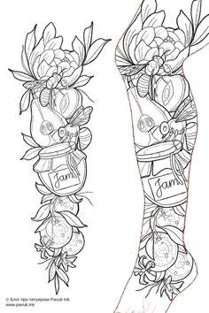 Half Sleeve Tattoos Drawings, Cool Half Sleeve Tattoos, Half Sleeve Tattoos Designs, Body Art Tattoos, Half Sleeve Tattoo Stencils, Rose Tattoo Stencil, Card Tattoo Designs, Tattoo Design Drawings, Tattoo Sketches