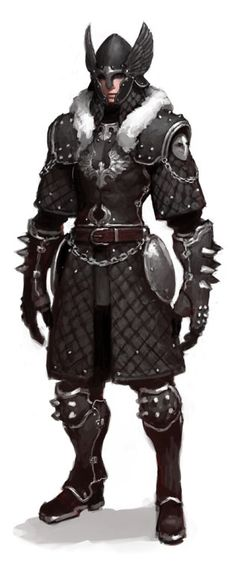 Imperial bodyguard  The Quilted leather (or whatever?) is really cool. Costume wise it would be a good way of covering the body without having to make a massive amount of armor, yet it looks protective. Maybe too practical for 'Fantasy Grunge'? ;p