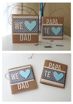 Crafting ideas from Sizzix UK: I love you Dad Card