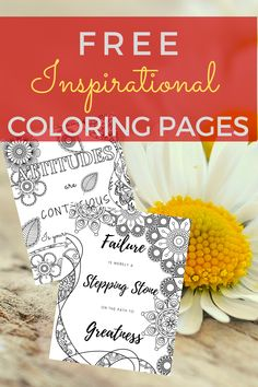 I love these free inspirational coloring pages. It's a great way to de-stress and pass the time.