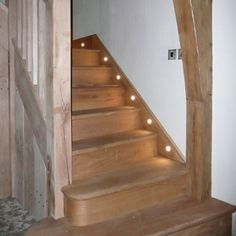 LED home lighting staircase. Add a motion sensor and this would be a good alternative to bright hallway lights at night time.