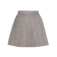 Thom Browne Woman Striped Crepe-paneled Frayed Pleated Tweed Skirt White Size 42 Thom Browne Original Cheap Price Cheap Wiki Limited New Sale Amazing Price xeoVFXERo6