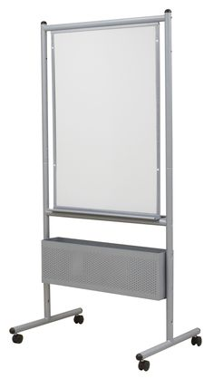 This double sided porcelain whiteboard is the perfect accessory for your classroom or auditoriums. Featuring a double-sided writing surface and steel frame, the unit is ideal for teaching to a large audience. The porcelain whiteboard for lecture halls includes an adjustable storage box which supplies can be placed in for easy access while teaching. Equipped with four locking casters, the double-sided steel frame can be kept stationary when transport is complete. Providing optimal viewing…