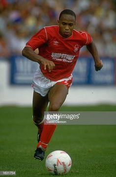 Franz Carr of Nottingham Forest in action during a match against Everton at the City Ground in Nottingham England The match ended in a 00 draw. Nottingham Forest Fc, Stock Pictures, Stock Photos, Everton, Newcastle, Soccer Ball, England, Action, Football