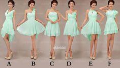 short mint bridesmaid dresses - Google Search