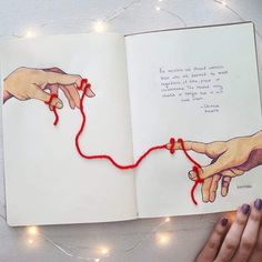 Inspired by the Chinese proverb of the red thread. ❤ The Red Thread of Destiny is a belief that comes from an ancient Chinese lore. It is also known as the 'Red Thread of Fate' or 'Red String of. Bullet Journal Writing, Bullet Journal Ideas Pages, Bullet Journal Inspiration, Art Journal Pages, Drawing Sketches, Art Drawings, Kunstjournal Inspiration, Bullet Journal Aesthetic, Art Diary