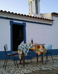 dinnering outside in the country, Alentejo, Portugal