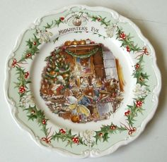 """Brambly Hedge """"Midwinter's Eve"""" plate by Royal Doulton"""