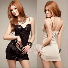 Free shipping , Hot selling ,Sexy shoulder strap full paillette spaghetti strap tube top design one-piece women dress D8082 $10.97