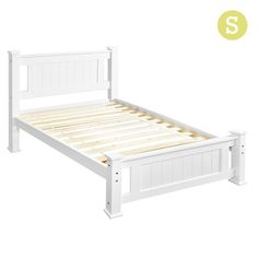Wooden Bed Frame Pine Wood Single White http://www.shopprice.com.au/wooden+bed+frame