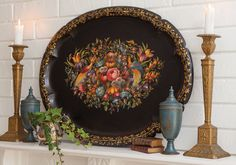 Antique toleware tray (Lidy Baar's French Garden House Antiques, victoriamag.com)