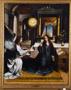 Annonciation | Museu Nacional de Arte Antiga | Jorge Afonso (artiste-peintre) (école), Date: 1501 - 1510