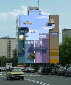 Paredes e murais gigantescos brincam com o imaginário e a ilusão do observador