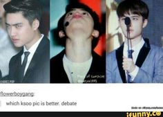 All three are perfect representations of Kyungsoo^.^<< these are stages of kyungsoos mood