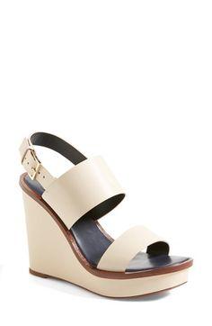 18f4b7eafe2424 Tory Burch  Lexington  Leather Wedge Sandal (Women)