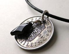 English necklace Coin necklace Gothic necklace by CoinStories