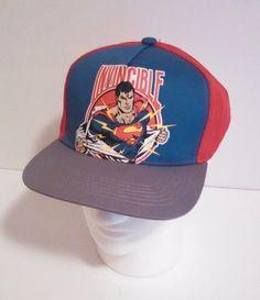 23c7abfd3ae DC Comics Invincible Superman Snapback Hat One Size Fits All  DCComics   SnapbackHat Mannequin Heads