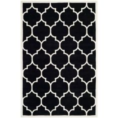 Our Moroccan-themed rug is very popular on Pinterest, and we think it'd be a hit with any lover of graphic black and white designs.
