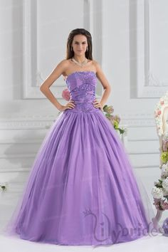 Ball Gown Sweetheart Organza Crystal Floor Length Quinceanera Dress