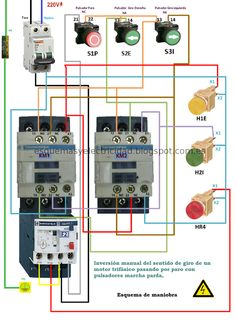 ESQUEMA-MANIOBRAS-ConvertImage — Postimage.org Electrical Panel Wiring, Man Cave Garage, Control, Engineering, Electrical Work, Electric Circuit, Educational Technology, Engineer, Circuits