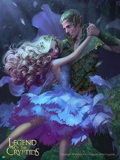 Artist: Svetlana Tigai aka tsvetka - Title: silk tree fairy princess adv - Card: Nocturnal Dancer Willow (Afterdark)