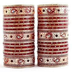 Planning to refresh your #jewelry collection this #monsoon season. Try this beautiful Maroon Bridal #Punjabi Wedding Chudas. Order it now online from #LuckyJewellery  at Rs. 630/- This #wedding season look stunning with this designer #Choora. #jewellery #fashion #style #ethnic http://ift.tt/29ZXmYQ