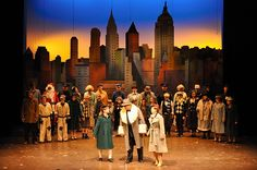 set designs for guys and dolls Elf The Musical, Annie Musical, Musical Theatre, Blood Brothers Musical, Annie Play, Superhero Background, Annie Costume, Kids Church Rooms, Peter Pan Costumes
