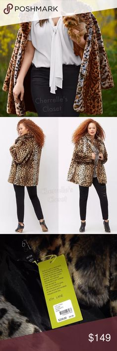 "Lane Bryant 6th & Lane Faux Fur Animal Print Coat Up for Sale is a Lane Bryant Designer 6th & Lane Faux Fur Animal Print Coat Brand New With Tags Plus Size 22/24 3X & 26/28 4X Retails for $258.00! 🍁Temporary Price Cut!!🍂 Luxe faux fur coat by 6th & Lane steps up your style game in fierce leopard. Three hook & eye closure. Fully lined. Length: Approx 33.5"" Lane Bryant Jackets & Coats"