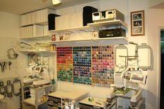 Организация пространства. Как хранить нитки для машинной вышивки