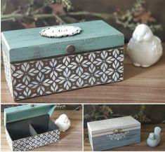 Decoupage Box, Decoupage Vintage, Wood Laser Ideas, Shabby Chic Boxes, Furniture Painting Techniques, Paper Mache Sculpture, Vintage Box, Craft Box, Tole Painting