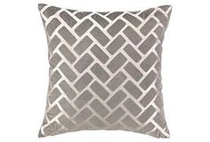 One Kings Lane - Memorial Day Blowout Sale - Rectangle Velvet 20x20 Pillow, Taupe