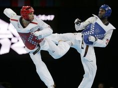 Anthony Obame, winner of Gabon's first ever Olympic medal, a Taekwondo silver. He was a surprise finalist and looked like he was going to win as he led 9-6 with less than 30 secs. left. However, he was caught by a 3 point head kick which took the match to sudden death.The golden score round also failed to find a winner and the gold was eventually decided by the judges. Watch the fight, he was really unlucky, he scored a head shot that the judges took away!