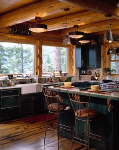 Lifeline Interior Light Natural log home stain and Perma-Chink Tan log home chinking
