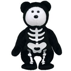 TY Beanie Baby - BONESES the Skeleton Bear (9 inch)