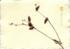 NERA. acquerello su carta a mano, 14x21 cm circa, anno 2008
