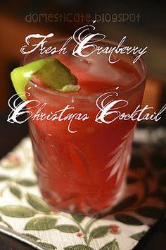 fresh cranberry christmas cocktail