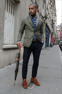 Like all of what's going on here, very dapper, the English gent look being rocked in the USA