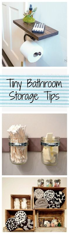 Tiny bathrooms 307933693254279460 - No space? No problem. Try these clever and easy storage tips to make the most of a tiny bathroom. Tiny House Storage, Small Bathroom Storage, Bedroom Storage, Diy Storage, Storage Ideas, Storage Jars, Storage Rental, Storage Benches, Small Storage