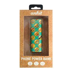 Teal Emoji Power Bank