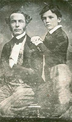 † ♥ ✞ ♥ †  Robert E. Lee, around age 38, and his son William Henry Fitzhugh Lee, around age 8, c.1845  † ♥ ✞ ♥ †