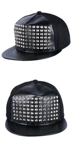 94e197bc4f0 women men brand snapback cap hip hop hat custom handmade rivet spike nail  design girl boy
