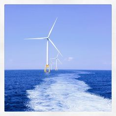 Block Island Wind Farm Americas first offshore wind farm. Five turbines in total capable of powering approximately 17000 homes  #Offshore