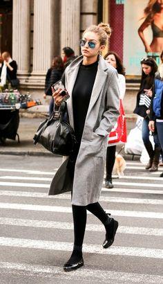 Gigi Hadid in Long Coat